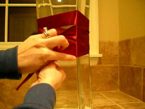 Tying The Knot Tutorial On Ribbon Around Centerpiece Vases You