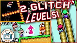 2 CRAZY GLITCH LEVELS in Super Mario Maker 2!