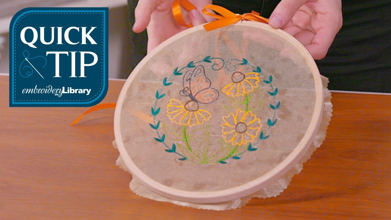 quick tip how to embroider on organza youtube