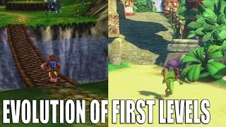 Evolution of First Levels in Yooka Laylee and Banjo Kazooie Games
