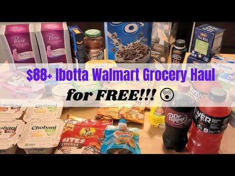 Insane $88 Walmart Grocery Haul For FREE With Ibotta - Extreme Couponing Breakdown