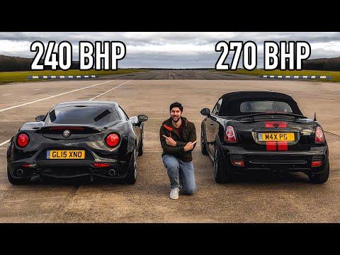 Drag Race: Alfa Romeo 4C VS 270 BHP Tuned Mini JCW!