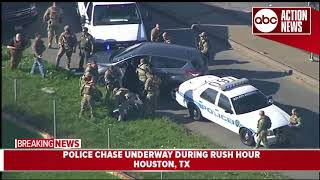 Police arrest driver who led them on slow speed chase through Houston