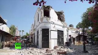 Drone shows earthquake damage on island of Kos