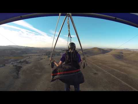 Hang Gliding Lessons - Final Flight of First Weekend of Towing