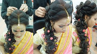 ring ceremony hairstyle step by step only( 10 minutes ma)