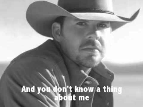 You Don't Know a Thing About Me by Gary Allan lyrics screen