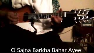 O Sajna Barkha Bahar Ayee-Lata Mungeshkar-Mandolin Instrumental