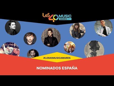Nominados en la categoría nacional a LOS40 Music Awards 2017