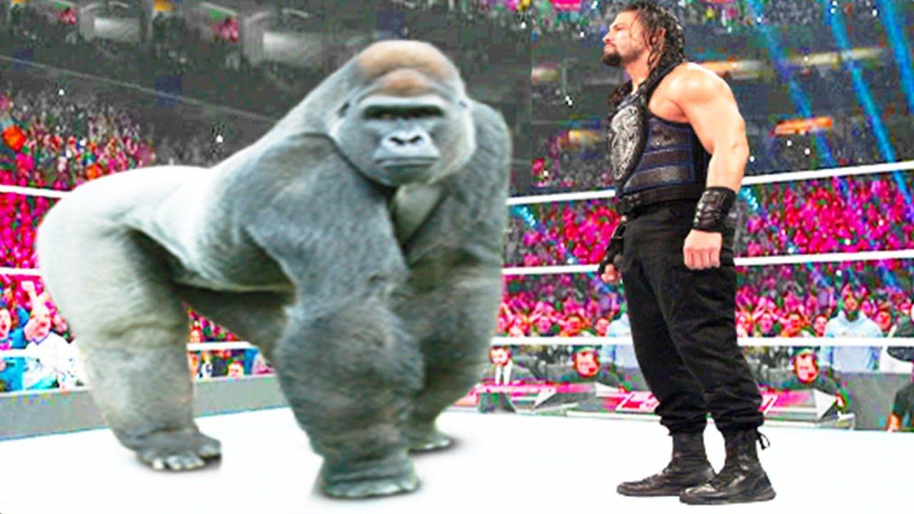 Roman Reigns vs Gorilla - Iron Man Match