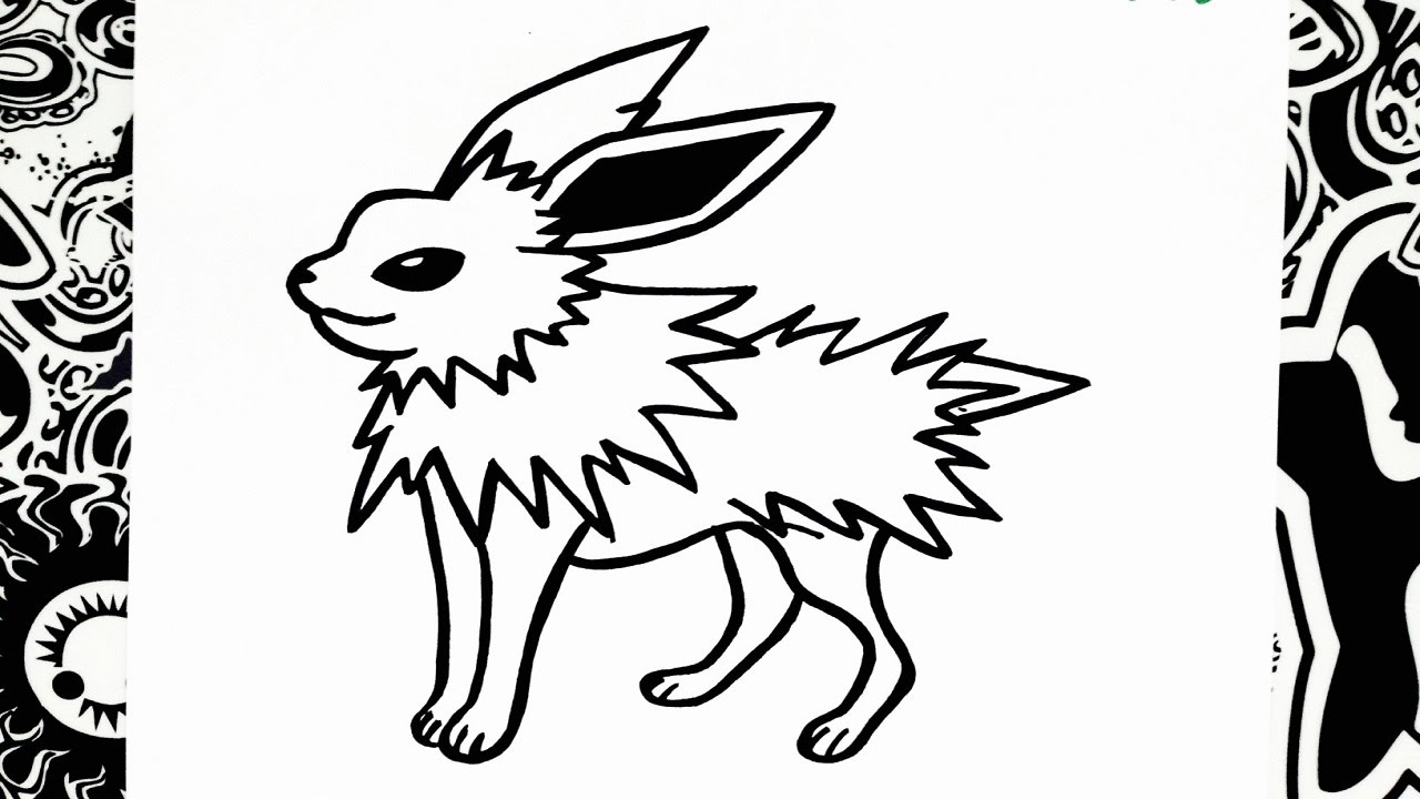 como dibujar a jolteon  how to draw jolteon  YouTube