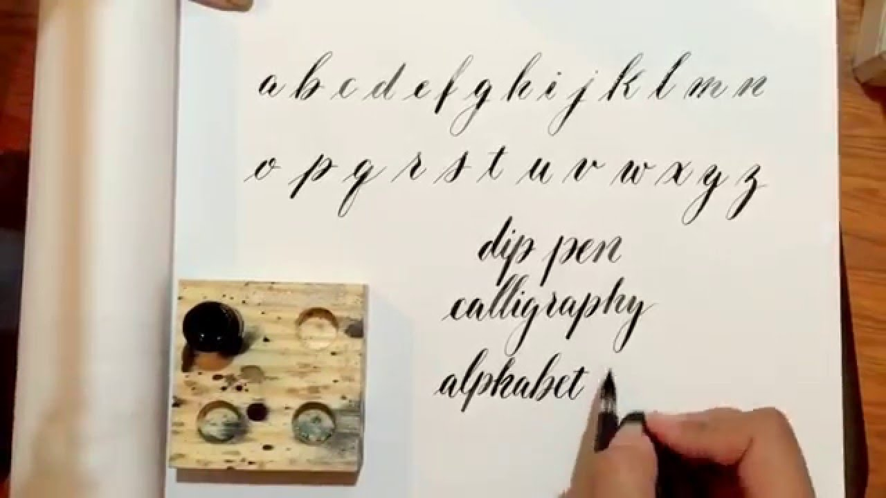 Writing a modern calligraphy alphabet with a speedball oblique