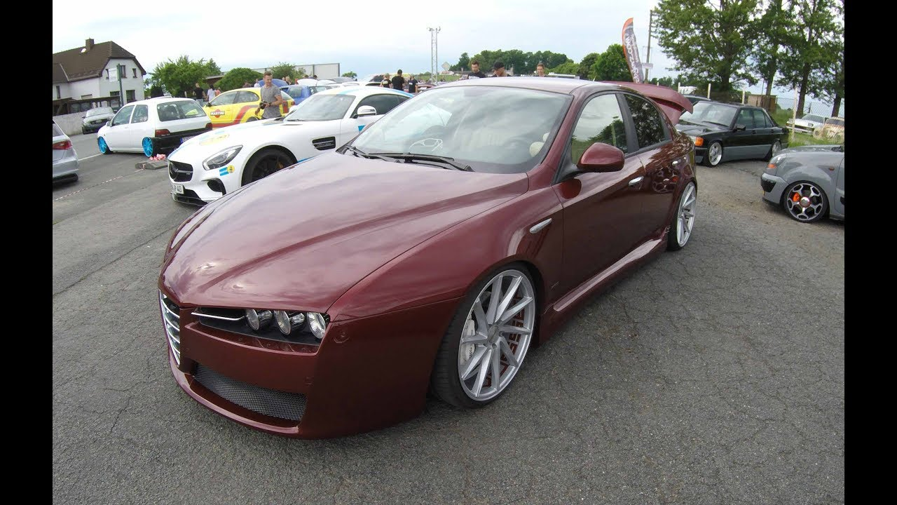 alfa romeo 159 lowered tuning show car vossen wheels. Black Bedroom Furniture Sets. Home Design Ideas