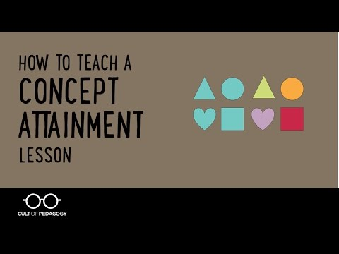 How to Teach a Concept Attainment Lesson