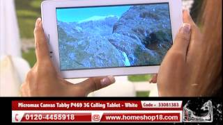 Homeshop18 com - Micromax Canvas Tabby P469 3G Calling Tablet - White
