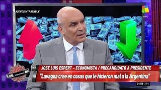 """José Luis Espert en """"Intratables"""" con Andino, por América el 7 de marzo de 2019"""