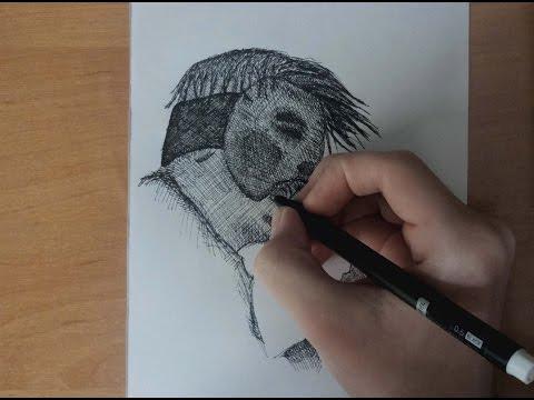 видео: speed drawing danny from hollywood undead   Рисунок Дени Из hollywood undead