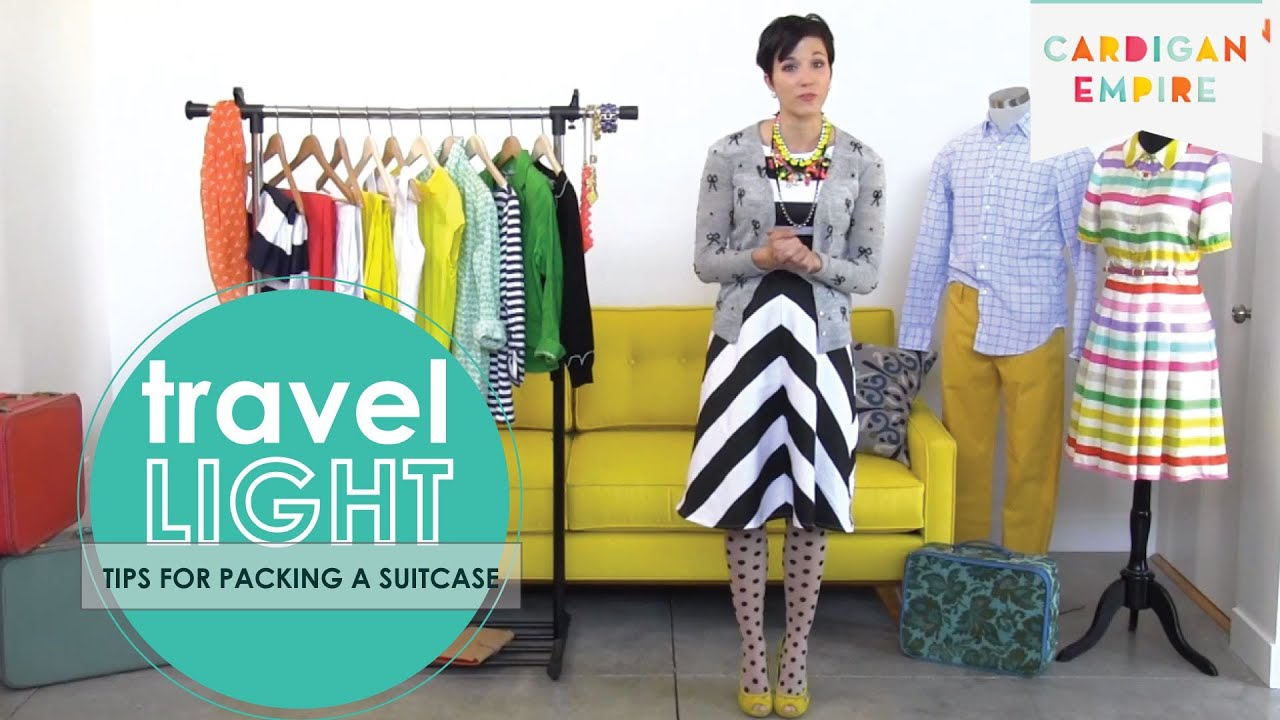 How to Travel Light - Tips for Packing Your Suitcase using a Travel Capsule
