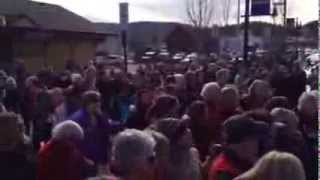 One Billion Rising - Break the Chain Flash Mob - Truckee, Ca 2104