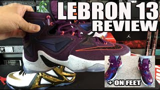 nike lebron 13 xiii on feet review video comparison to lebron 12