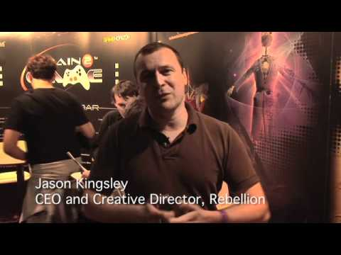Train2Game at EuroGamer with Jason Kingsley CEO and Creative Director  Rebellion