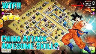 WTF!! CHINA ATTACK SKILL STRATEGY⭐AIR & GROUND - LALOON - HOG - MINERS SMASH TH12 3-STAR ( CoC )