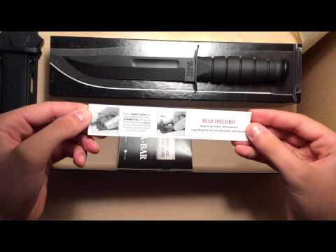 KA-BAR 1211 1212 1213 1214 Review and Unboxing