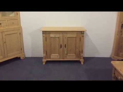 Small Antique Pine Cupboard - Pinefinders Old Pine Furniture Warehouse