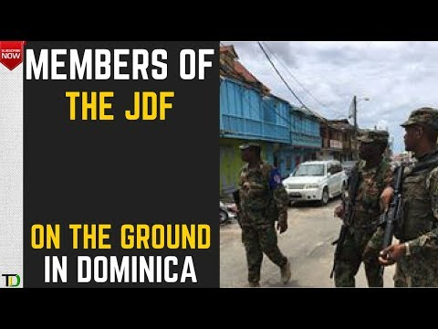 Jamaican Soldiers on the Ground in DOMINICA to help with Hurricane Relief efforts & Maintain Order