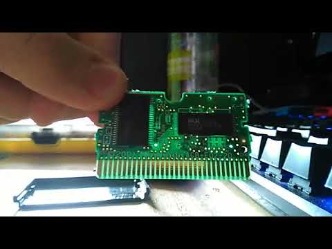 GBA game contact cleaning