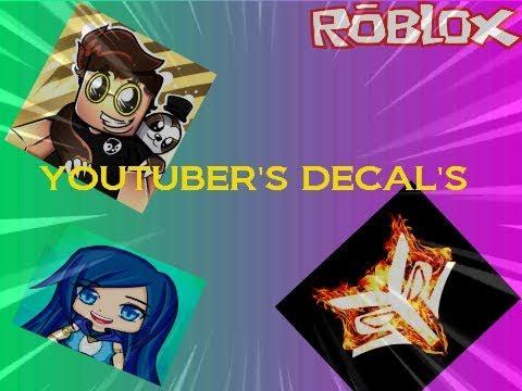 Roblox Id Decal Roblox Youtuber Bloxburg Youtube