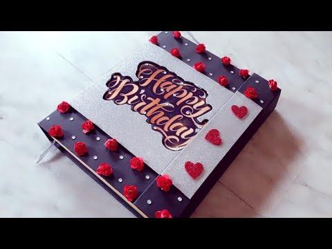   Handmade Scrapbook ideas   Birthday scrapbook album   Scrapbook greeting card   Special birthday A