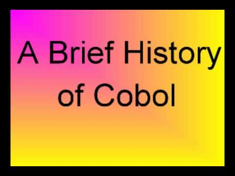 History Of Cobol