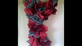 Crochet a Double Crochet Ruffled Scarf