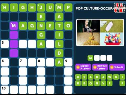 Crossword Quiz POP CULTURE Level 3 - Walkthrough