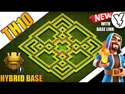 [NEW] TOWN HALL 10 (TH10) HYBRID BASE | 100% TESTED✔✔ | BEST TH10 BASE WITH LAYOUT LINK 2019!! - COC