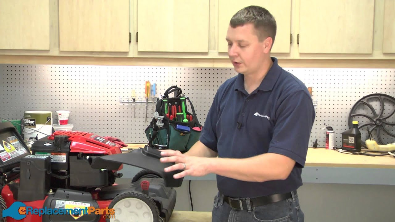 How To Replace The Side Discharge Chute On A Troy Bilt