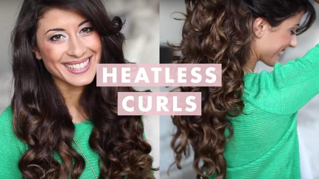 heatless curls hair tutorial