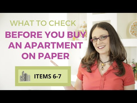What to check before you buy an apartment on paper [items 6-7]