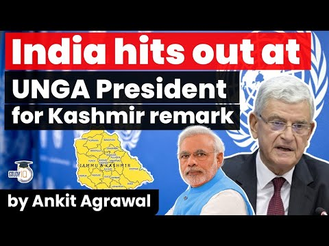 India strongly opposes UN General Assembly President Volkan Bozkir's comment on Jammu and Kashmir