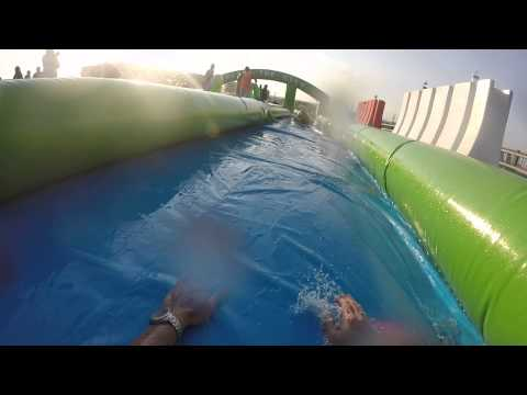 Slide the City Fort Worth, Texas June 6th 2015 - Go Pro HD