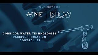 ISHOW USA 2020 Winner – Passive Irrigation Controller Corridor Water