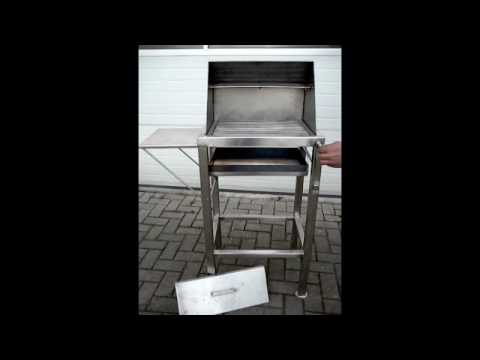 edelstahlgrill ein echter m nner grill youtube. Black Bedroom Furniture Sets. Home Design Ideas