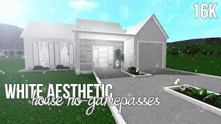 ROBLOX   Bloxburg: White Aesthetic House No-Gamepasses 16k