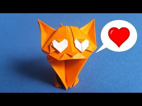 Adorable Origami Cat Easy Tutorial 🐱 ❤
