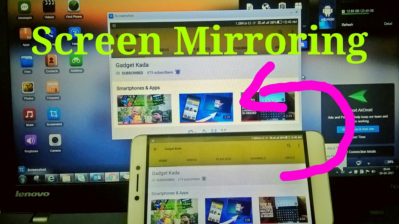How to mirror android screen on pc without root access for Mirror your android screen to a pc