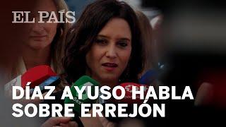 Isabel DÍAZ AYUSO celebra la candidatura de ERREJÓN: