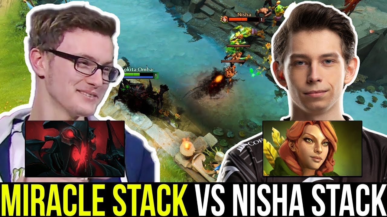 MIRACLE SF mid vs NISHA - 5 Man Party Battle 7.22 Dota 2 thumbnail