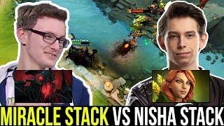 MIRACLE SF mid vs NISHA - 5 Man Party Battle 7.22 Dota 2