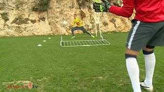 AS Monaco : Awesome goalkeeper training technique...